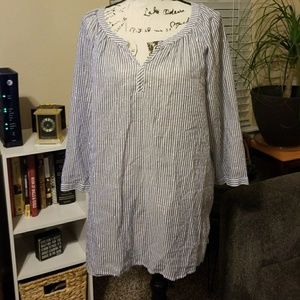 Women's tunic with silver sparkle